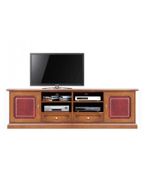 TV-Lowboard mit Leder, TV-Lowboard 2 Ledertür, Art. N° 4010-SHQ