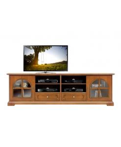 TV-Lowboard 2 m Glastüren, TV-Lowboard Massivholz