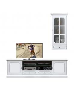 Fernsehmöbel mit Vitrine Wandhängend