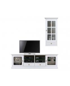 Wohnwand, TV-Möbel, Hängevitrine