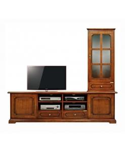 TV-Möbel mit Aufsatz, Wohnwand