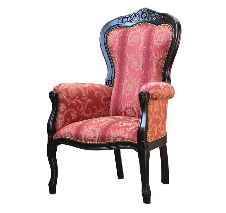 schwarzer sessel mit schnitzarbeit frank m bel. Black Bedroom Furniture Sets. Home Design Ideas