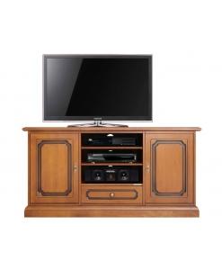 Schrank TV mit beweglichen Einlegeböden, Schrank Tv aus holz