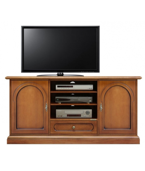 tv schrank 130 cm mit sockelleiste frank m bel. Black Bedroom Furniture Sets. Home Design Ideas
