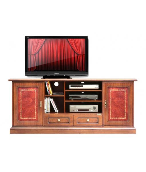 TV-Möbel mit Ledertüren, TV-Möbel Leder, Art.-Nr. 4070-BUL