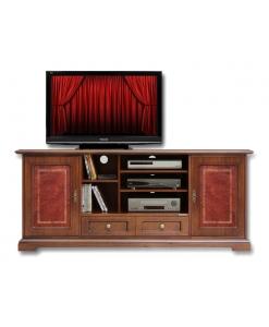 TV-Möbel mit Ledertüren, TV-Möbel Leder
