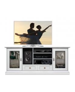 TV-Lowboard 2 Glastüren, TV-Lowboard 160 cm