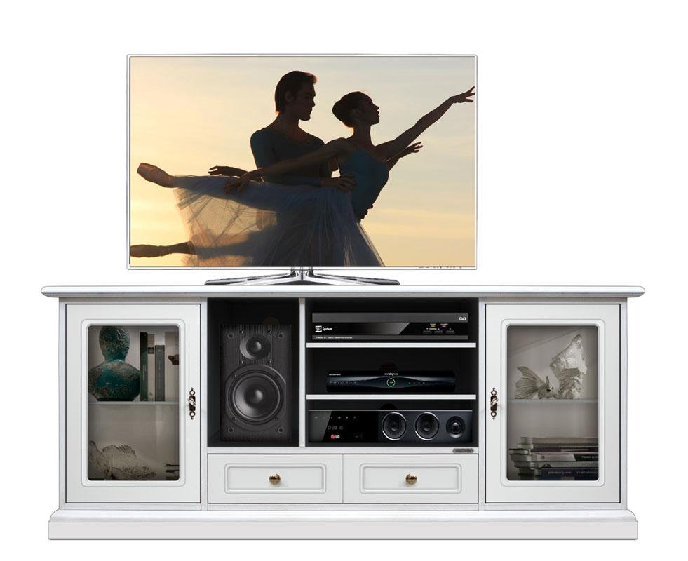 tv lowboard 2 glast ren 160 cm frank m bel. Black Bedroom Furniture Sets. Home Design Ideas
