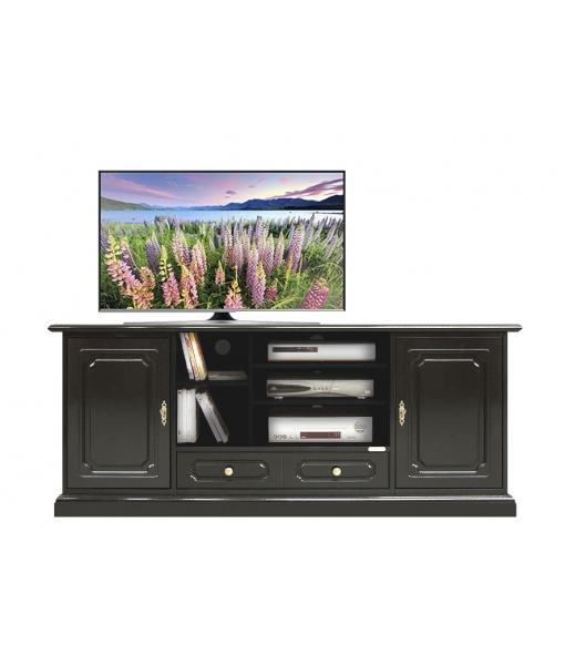 TV-Lowboard Schwarz 2 Türen art. 4070-SN