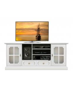 TV-Lowboard mit Schubkasten, TV-Lowboard Elfenbein