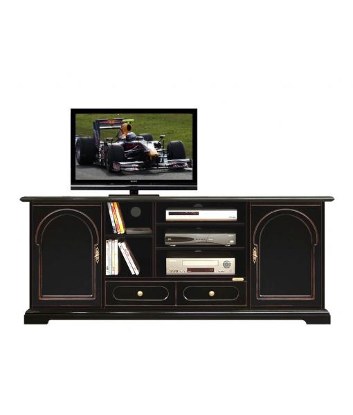 Tv-Lowboard Schwarz 4070-TPN