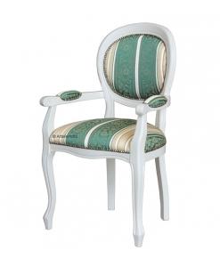 Stuhl mit Armlehnen weiß, Armlehnstuhl weiß