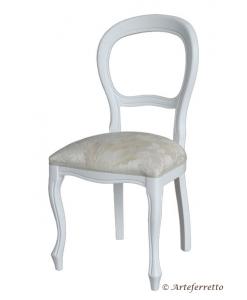 Stuhl Louis Philippe weiß, klassischer Stuhl, Stuhl klassisch, Stuhl weiß