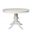 Weißer Tisch, Runder Tisch 100 cm