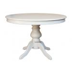 Säulentisch Louis Philippe, Esstisch weiß, Runder Tisch 110 cm