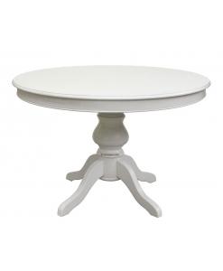 Weißer Tisch 120 cm, Säulentisch Louis Philippe, Esstisch weiß, Louis Philippe Säulentisch