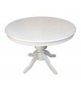 Säulentisch Louis Philippe, Esstisch weiß, Tisch 110 cm