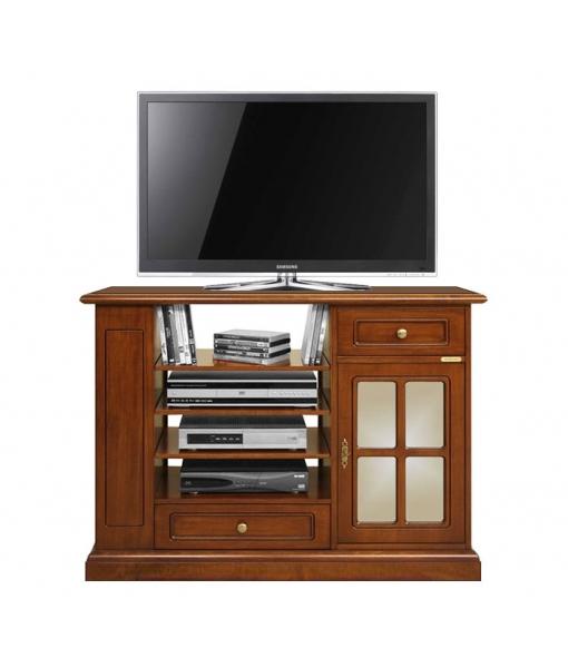 tv schrank h 80 cm mit glast r frank m bel. Black Bedroom Furniture Sets. Home Design Ideas
