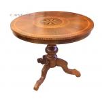 Rundtisch, Tisch mit Intarsie