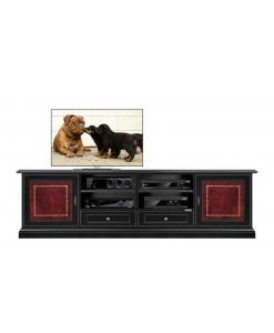 TV-Lowboard zweifarbig, TV-Lowboard rot und schwarz