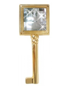 Schlüssel aus glänzendem Gold , Schlüssel, Schlüssel mit Swarovski
