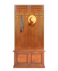 Garderoben-Set, Garderobepaneel mit Truhe