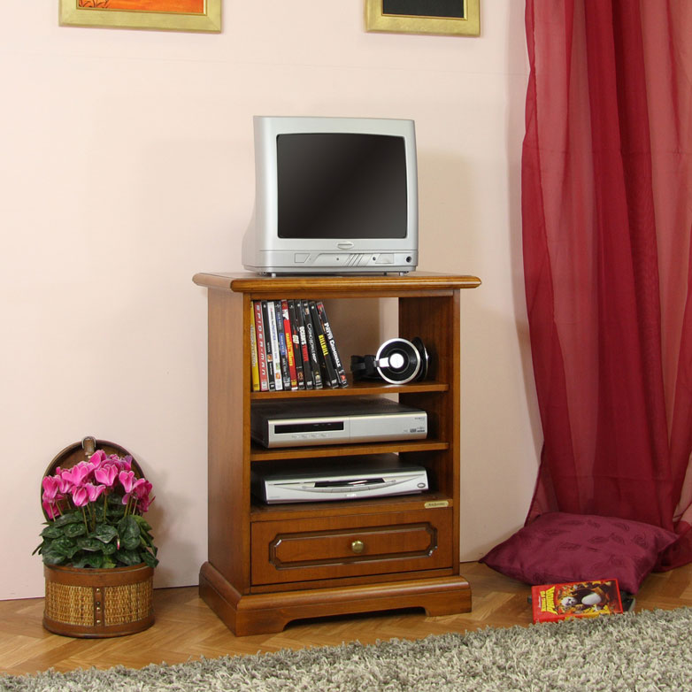 tv rack mit schubkasten klein frank m bel. Black Bedroom Furniture Sets. Home Design Ideas