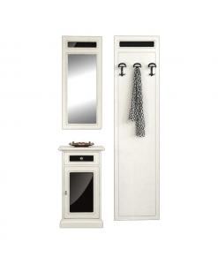 Garderobe-Set mit Schwarzdetails, Garderobe-Set