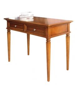Schreibtisch mit Intarsie, Schreibtisch 2 Schubladen