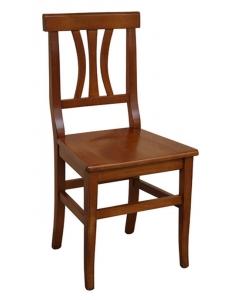 Stuhl mit Sitz aus Holz, Stuhl jeden Tag