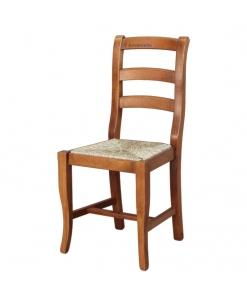 Stuhl mit Sitz aus Stroh, Stuhl mit Strohsitz, Traditioneller Stuhl