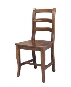 klassischer Stuhl Holzsitz, Stuhl jeden Tag, Holzstuhl