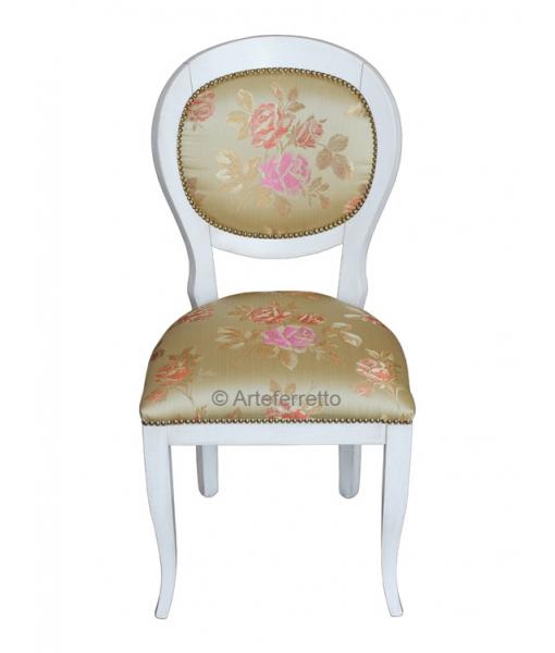 Stuhl Design mit Stoff, Polsterstuhl
