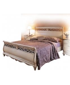 Doppelbett lackiert, Doppelbett weiß