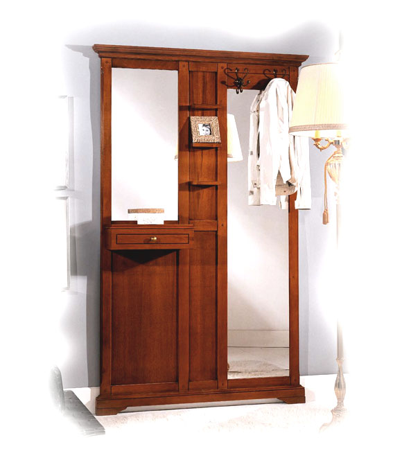 garderobe mit haken und spiegel ebay. Black Bedroom Furniture Sets. Home Design Ideas