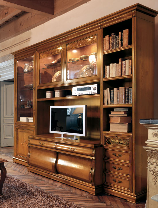 tv wohnwand eschenholz und kirsche villa letizia frank. Black Bedroom Furniture Sets. Home Design Ideas