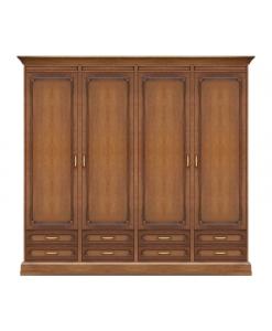 Schrank 4 Türen, Schrank Schlafzimmer