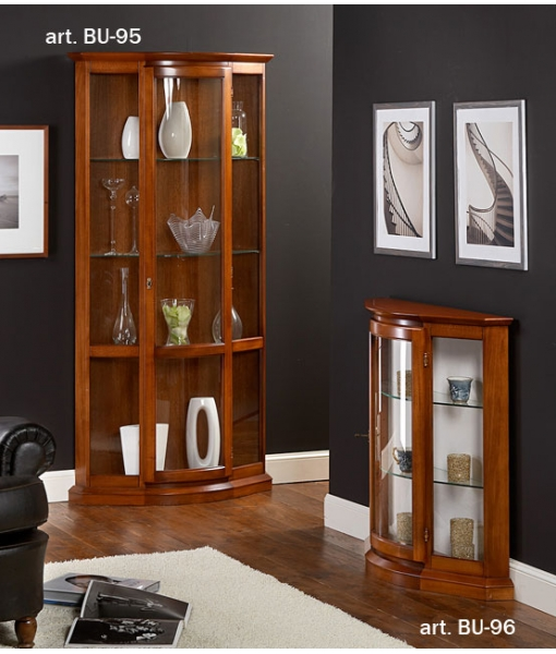 kleine vitrine halbmond mit glas frank m bel. Black Bedroom Furniture Sets. Home Design Ideas