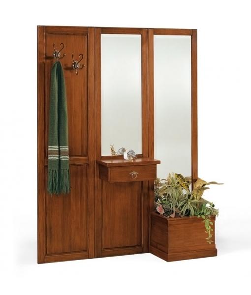 garderoben set wohnwand aus holz frank m bel. Black Bedroom Furniture Sets. Home Design Ideas