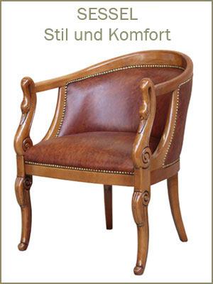 Kategorie Klassische Sessel, klassischer Sessel, Polstersessel, Sessel im Stil, Sessel aus Holz, Sessel italiniescher Stil