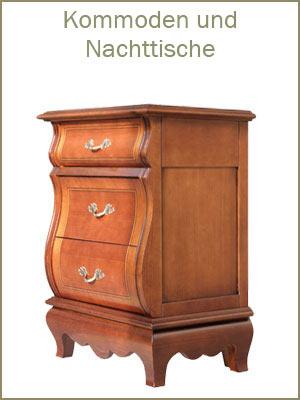 Kategorie Kommoden und Nachttische, klassischer Nachttisch, Nachttisch, kleine Kommode, klassische Möbel Schlafzimmer, Möbel mit Schubladen