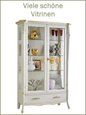 Kategorie Vitrine, klassische Vitrine, Vitrine Made in Italy, elegante Vitrine, Glasvitrine, Vitrine aus Holz mit Glas
