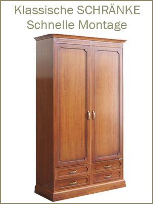 Kategorie Schränke, klassischer Schrank, Möbel Schlafzimmer, Klassische Schränke, Schrank im Stil, Schrank schnell zu montieren