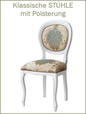 Kategorie Klassische Stühle, Klassischer Stuhl, Klassische Stühle Made in Italy, Stühle mit Polsterung, Polsterstuhl, Elegante Stühle