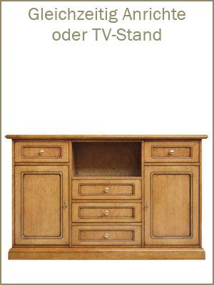 Kategorie Anrichte, Möbel mit Türen, Möbel mit Schubladen, Holzanrichte, Anrichte im Stil, klassische Möbel schon montiert