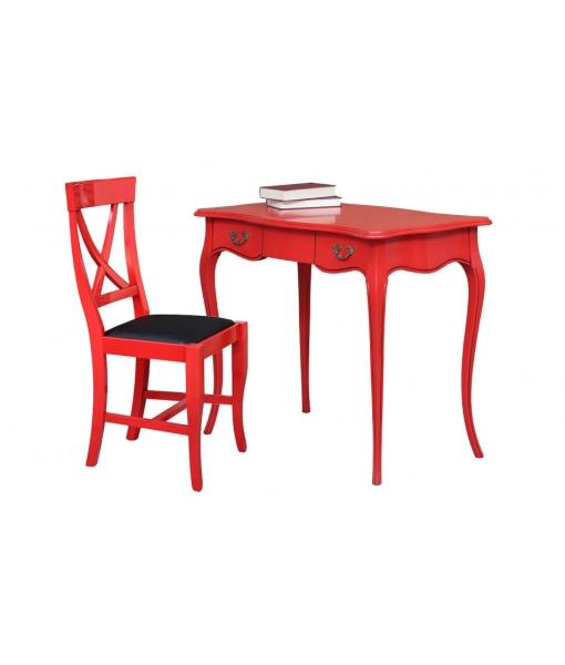 Scrittoio rosso con sedia, cod. articolo: CAV-red