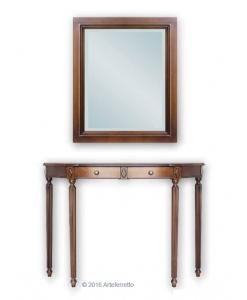Konsolentisch mit Spiegel, Konsolentisch 2 Schubkästen