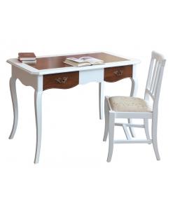 Schreibtisch Massivholz, Schreibtisch Zweifarbig