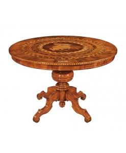 Runder Tisch mit Intarsien 120 cm