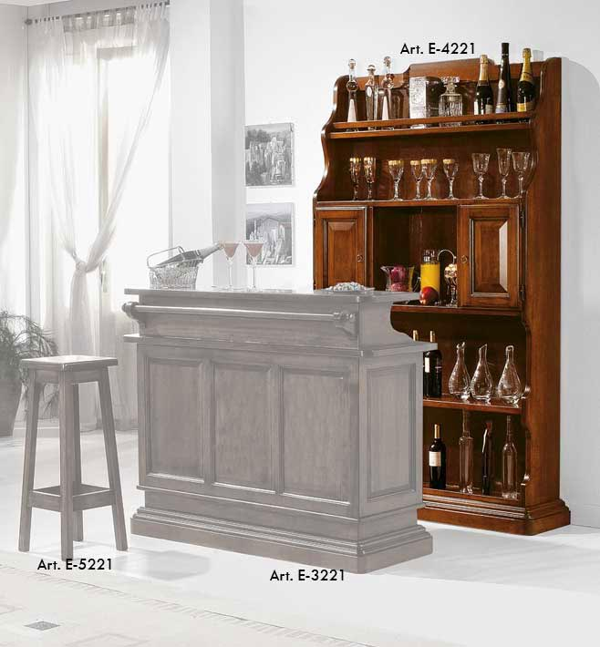 bar wand aus holz klassisch frank m bel. Black Bedroom Furniture Sets. Home Design Ideas